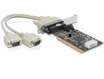 Placa PCI la 2 x Serial RS232 Power Management, Delock 89303