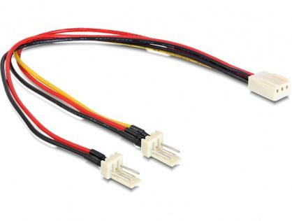 Cablu alimentare 3 pini la 2 x 3 pini M-T (fan) 22cm, Delock 89343