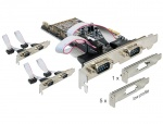 Placa PCI Express cu 6 x Serial RS232, Delock 89347