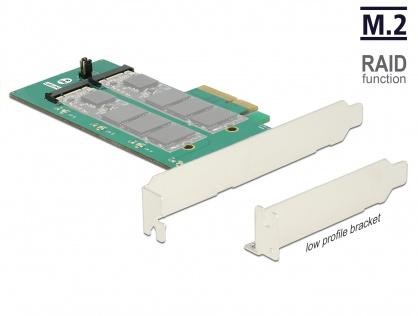 PCI Express cu 2 x M.2 Key B cu RAID, Delock 89536