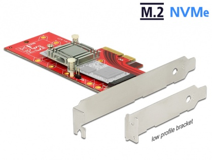 PCI Express la 1 x NVMe M.2 Key M 110 mm cu radiator, Delock 89577
