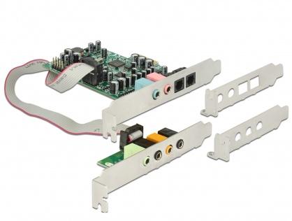 Placa de sunet PCI Express 7.1  - 24 Bit / 192 kHz cu TOSLINK In / Out, Delock 89640