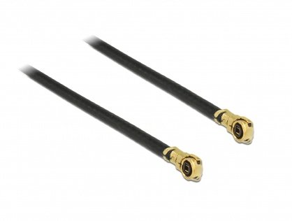 Cablu antena MHF IV/HSC MXHP32 plug la MHF IV/HSC MXHP32 plug 50cm 1.13, Delock 89646