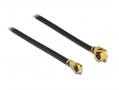 Cablu antena MHF / U.FL-LP-068 plug la MHF IV/ HSC MXHP32 plug 40cm 1.13, Delock 89650
