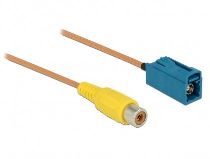 Cablu FAKRA Z jack la RCA jack RG-179 32cm, Delock 89652