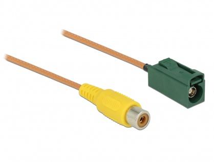 Cablu FAKRA E jack la RCA jack RG-179 32cm, Delock 89653