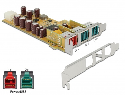 PCI Express PoweredUSB la 1 x USB 24V + 2 USB 12V, Delock 89655