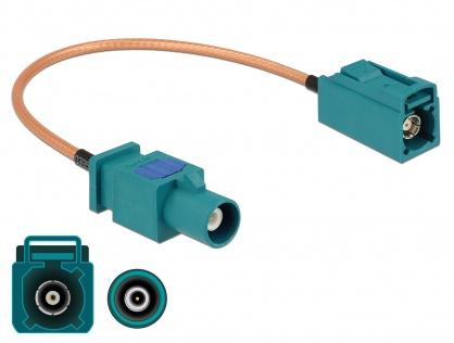 Cablu antena FAKRA Z plug la FAKRA Z jack RG-316 20cm, Delock 89660