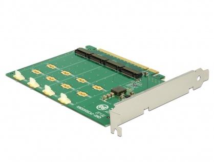 PCI Express la 4 x NVMe M.2 Key M - Bifurcation, Delock 89835