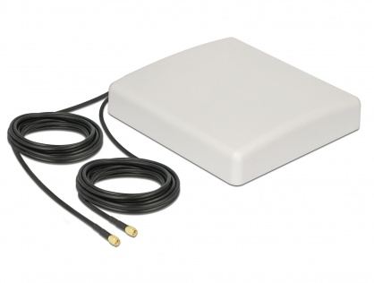 Antena exterioara LTE MIMO 2 x SMA Plug 8 dBi directionala + cablu RG-58 5m, Delock 89890