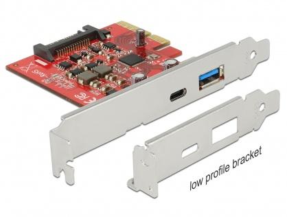 PCI Express la 1 port extern USB-C + 1 x extern USB 3.1-A  Gen 2, Delock 89898