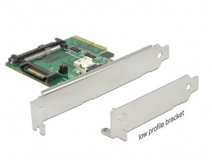 PCI Express U.2 NVMe la 1 x SFF-8654 4i + 1 x SFF-8639 LPFF, Delock 89921