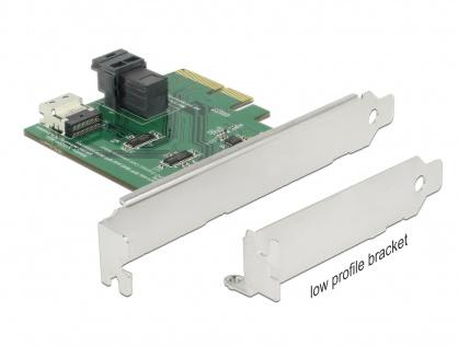PCI Express U.2 NVMe la 1 x SFF-8654 4i + 1 x SFF-8643 LPFF, Delock 89923