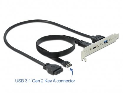 Bracket cu 1 x USB-C 20V/3A si 1 x USB-A 5V/0.9A, Delock 89934