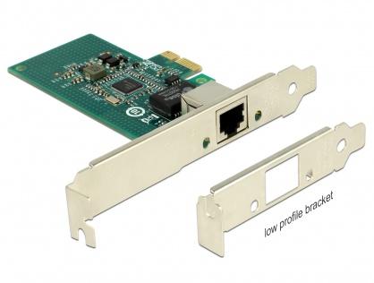 PCI Express la 1 x Gigabit LAN chipset Intel i210, Delock 89942