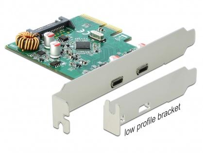 PCI Express cu 2 x SuperSpeed USB 10 Gbps (USB 3.1 Gen 2) USB-C, Delock 90397