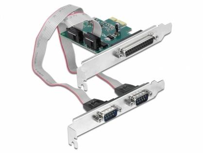 PCI Express cu 2 x Serial RS-232 + 1 x Paralel DB25 IEEE1284, Delock 90413