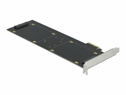 PCI Express x2 Card cu 4 x HDD/SSD SATA 22 pini (date + alimentare) RAID, Delock 90433