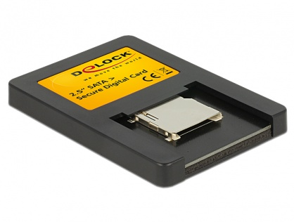 Card reader interfata 2.5 Drive SATA la Secure Digital Card, Delock 91673