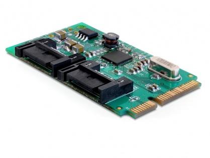 MiniPCIe I/O PCIe full size 2 x SATA 6 Gb/s, Delock 95225