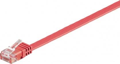 Cablu de retea UTP cat 6 flat 1m Rosu, Goobay 96400