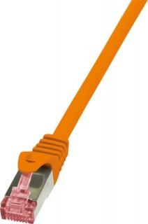 Cablu de retea RJ45 SFTP cat6 LSOH 2m Orange, Logilink CQ2058S