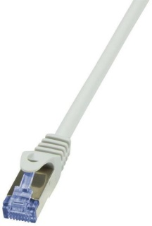 Cablu de retea S/FTP RJ45 CAT.6A LSOH 30m Gri, Logilink CQ3122S