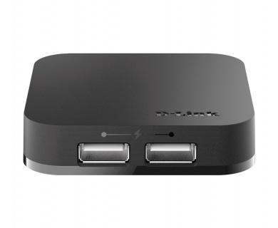 HUB USB 2.0 cu 4 porturi + alimentare, D-LINK DUB-H4