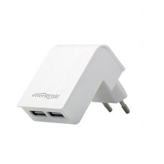 Incarcator priza 2 x USB 2.1A Alb, Energenie EG-U2C2A-02-W