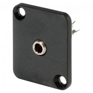 Conector jack stereo 3.5mm 3 pini mama tip D montare masa/panou, HICON HI-J35SEFD