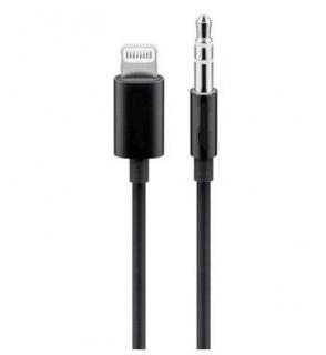 Cablu Apple Lightning audio la jack 3.5mm T-T 1m Negru, KIPOD50