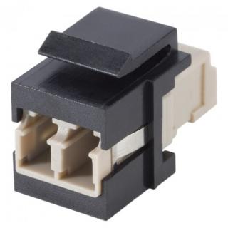 Keystone fibra optica LC-LC Negru, KST-L3L3-P-SW