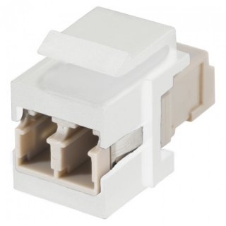 Keystone fibra optica LC - LC Alb, KST-L3L3-P-WS