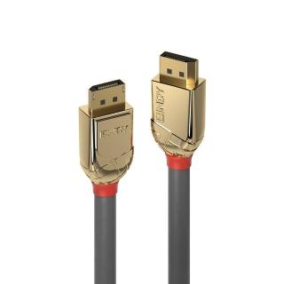 Cablu Displayport 8K60Hz/4K120Hz UHD (DP certificat) v1.4 T-T Gold Line 0.5m, Lindy L36290