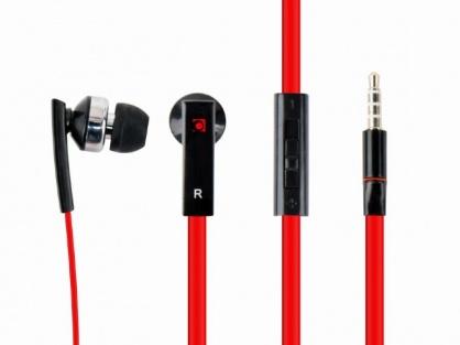 Casti interne cu microfon negru/rosu, Gembird MHS-EP-OPO