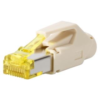 Conector de retea RJ45 cat. 6A Bej, RJ45C6A-BE