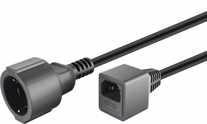 Cablu prelungitor pentru UPS Schuko la C14 siguranta 10A 1.5m, 55528