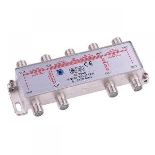 Splitter coaxial (antena tv) 8 porturi 5-2450 MHZ, ZLA0639