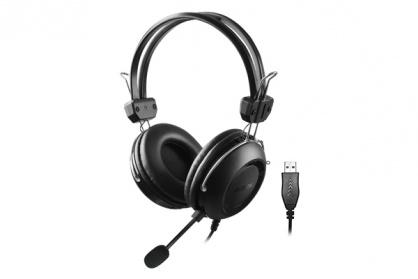 Casti cu microfon USB 2m Negru, A4TECH HU-35