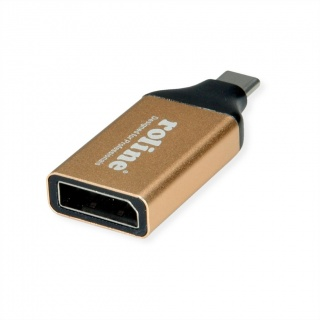 Adaptor GOLD USB-C la Displayport 1.2 4K@60Hz T-M, Roline 12.03.3232