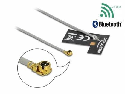 Antena interna WLAN 802.11 b/g/n MHF® I plug 2 dBi 1.13 10 cm FPC, Delock 12693