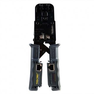 Cleste de sertizare RJ45/RJ12/RJ11 + tester, Hobbes 13.01.3358