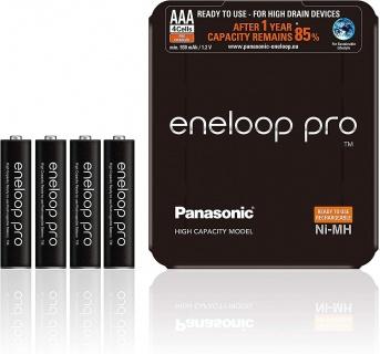 Set 4 acumulatori AAA 930 mAh, Eneloop Pro BK-4HCDE/4LE