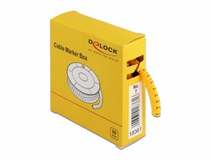 Set 500 bucati marcatoare cablu cifra 7 Galben, Delock 18361