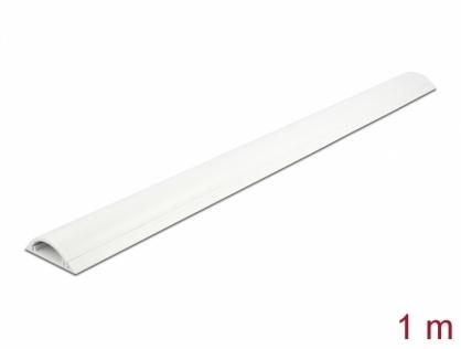 Canal cablu PVC 50 x 12 mm - 1m Alb, Delock 20705