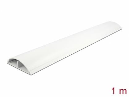 Canal cablu PVC 89 x 21 mm - 1m Alb, Delock 20707