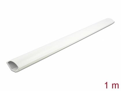 Canal cablu colt PVC 43 x 23 mm - 1m Alb, Delock 20714
