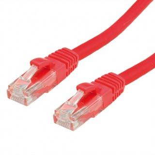 Cablu de retea RJ45 cat. 6A UTP 10m Rosu, Value 21.99.1427