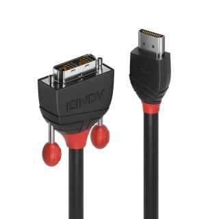 Cablu Black Line HDMI la DVI-D T-T 2m, Lindy L36272