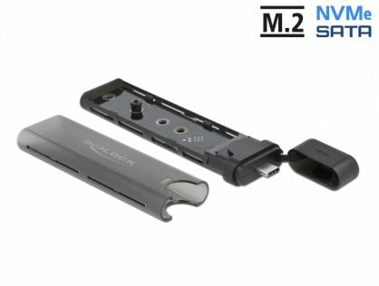 Rack extern Combo USB type C la M.2 NVMe PCIe + SATA SSD, Delock 42635